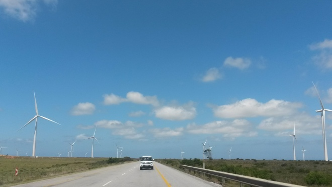 Wind turbines in South Africa (I hope this doesn't look like an ad for Land rover)